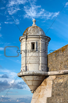 Tower of the Fort in Lagos, Algarve, Portugal