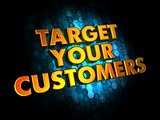 Target Your Customers  - Gold 3D Words.