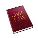 Civil Law book on white background