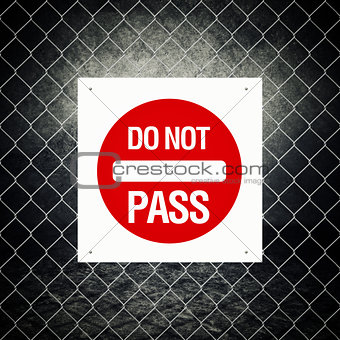 Caution sign - Do not pass
