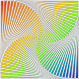 Design multicolor swirl movement illusion background