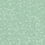 Floral retro wallpaper with grunge effect. Seamless background. EPS 10 vector illustration.
