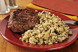Hamburger and wild rice