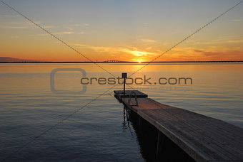 Bath pier at sundown