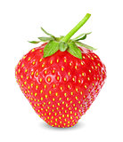 fresh, juicy and healthy strawberry, red on white