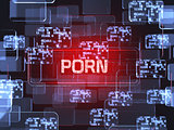 Porn screen concept