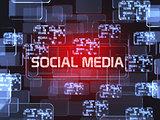 Social media screen concept