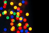 defocused colorful christmas lights