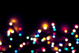 defocused abstract colorful christmas lights