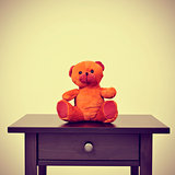 teddy bear, with a retro effect