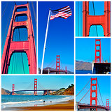 Golden Gate Bridge collage