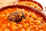 potaje de judias y garbanzos, a traditional spanish legume stew