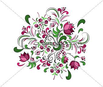 Floral frame. Vector watercolor background. art illustration
