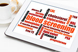 blood screening health concept