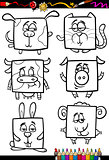 cute animals cartoon coloring book