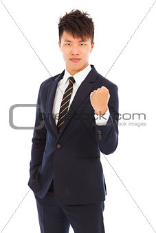 attractive young  asian businessman