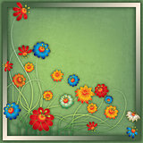 abstract vintage floral background with flowers
