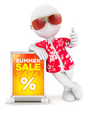3d white people summer sale