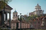 Church of Gran Madre and Monte dei Cappuccini, Turin, Italy