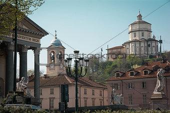Church of Gran Madre and Monte dei Cappuccini, Turin, Italy