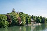 Monte dei Cappuccini and Po river, Turin, Italy