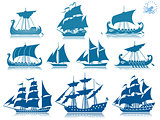 Sailing ships Iconset