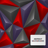 Abstract colored pyramid background