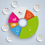 Abstract round elements info graphic template