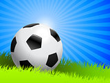 Soccer Ball on Summer Background