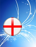 England Flag Button on Abstract Light Background