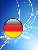 Germany Flag Button on Abstract Light Background