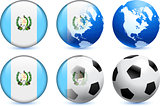 Guatemala Flag Button with Global Soccer Event