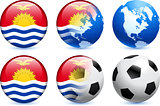 Kiribati Flag Button with Global Soccer Event