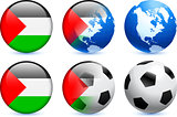 Palestine Flag Button with Global Soccer Event