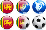 Sri Lanka Flag Button with Global Soccer Event