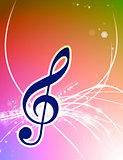 Musical Note on Abstract Background