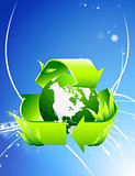 Recycle Globe on Abstract Background