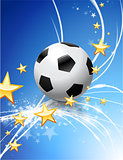 Soccer Ball on Abstract Modern Light Background