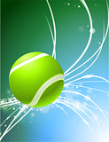 Tennis Ball on Abstract Modern Light Background