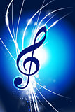 Music Note on Abstract Modern Light Background