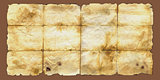 Brown aged damaged scratched paper background texture