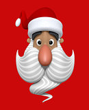 Cartoon Christmas Santa Claus character head