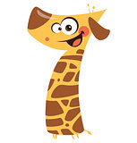 Number 7 funny cartoon giraffe