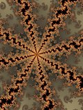 Patterned fractal background