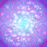 Abstract pink-violet round pattern