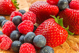 ripe fresh berry fruits