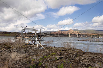 Old Fishing Platform by The Dalles Bridge
