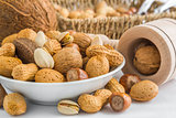 pistachio, peanuts, almonds, hazelnuts, walnuts, brazil nuts, co