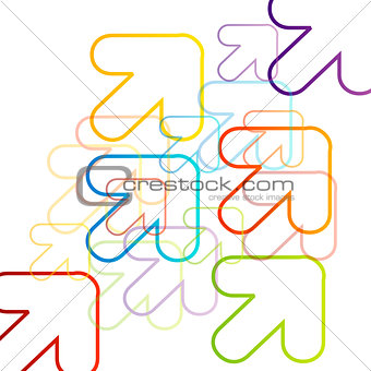 Background with colorful arrows pointing diagonally