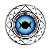 Triple goddess moon symbol- Wiccan symbol